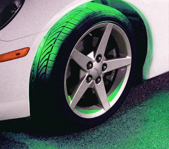 PlasmaGlow Flexible LED Wheel Well Kit Green