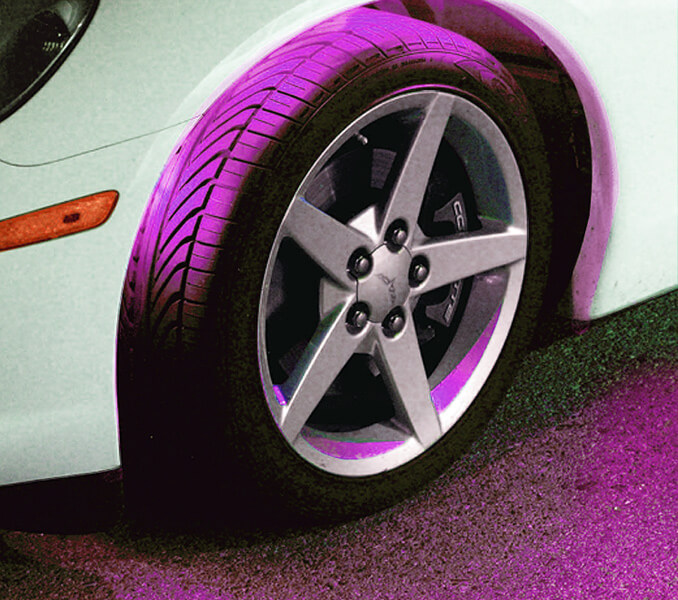 PlasmaGlow Flexible LED Wheel Well Kit Pink
